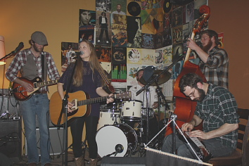 Kayla Luky and her band. Photo by Richard Amery