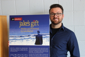 Jeremy Mason is excited to bring Jake's Gift to Lethbridge. photo by Richard Amery
