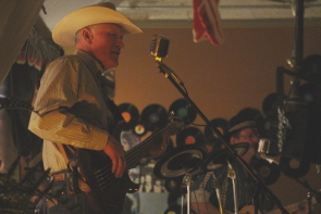 Blacksmith playing country music. Photo by Richard Amery