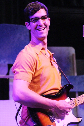 Fraser Elsdon plays Buddy Holly in New West Theatre's production ofBuddy: The Buddy Holly Story. Photo by Richard Amery