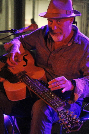 Harry Manx at Wide Skies Music Festival, July 30. Photo by Richard Amery