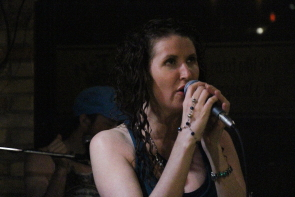 Jolene Drapwer singing at the 1010 Pub, June 29. Photo by Richard Amery