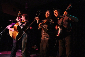 The Montgomery Street Band at the Slice, May 16. Photo by Richard Amery