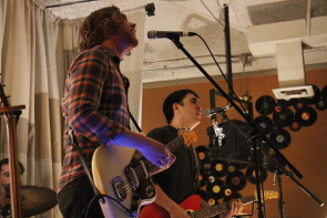 The New Weather machine's Jon martin and Jason oakes at the Owl, March 3. photo by Richard Amery