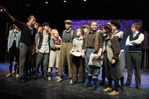 Newsies ends tonight at the Yates Sterndale Theatre. Photo by Richard Amery