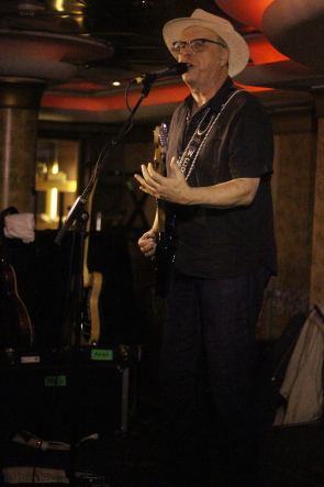 Webb Wilder playing the Outlaw Country Cruise 4. Photo by Richard Amery