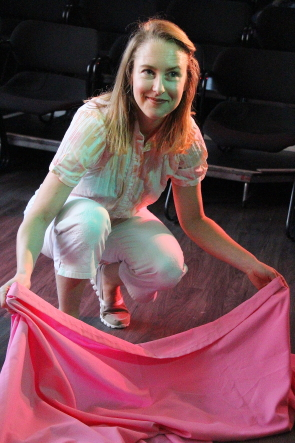 Ashley Thomson brings the Pink Unicorn to Didi's Playhaus this week. Photo by Richard Amery