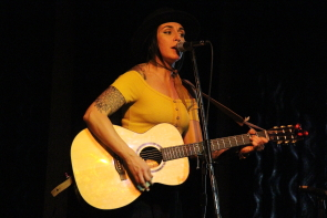 Ali Stuart placed second in the South Country Fair songwriting competition. Photo By Richard Amery