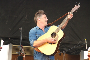 Aaron Grain aka Brett Ellis of Washboard Union playing the Shine On music Festival, Sept, 2. Photo by Richard Amery