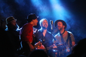 The Trews' playing an acoustic set at Average Joes, Feb. 5. Photo by Richard Amery