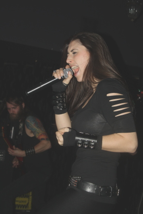 Unleash the Archers' Brittney Slayes. Photo by Richard Amery