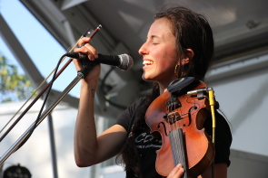 Carmanah playing Wide Skies Music Festival, July 30. Photo by Richard Amery