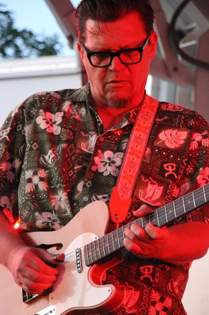 Cousin Harley's Paul Pigat at Wide Skies Music Festival, July 30. Photo by Richard Amery