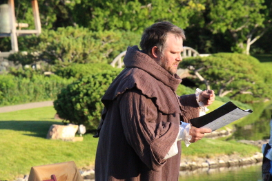 Andrew Legg performing in the Merry Wives of Windsor last year. Photo by Richard Amery